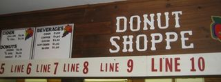 Donutshop sign
