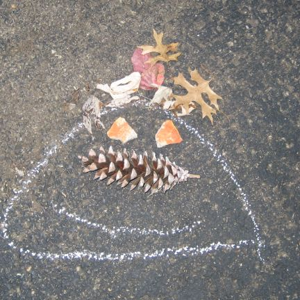 Silly pine cone man