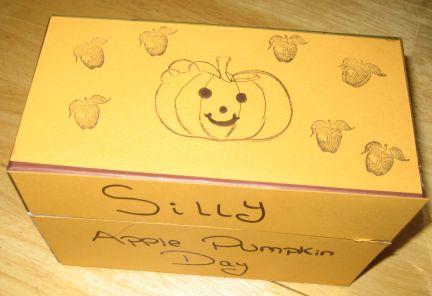 Silly pumpkin candy box