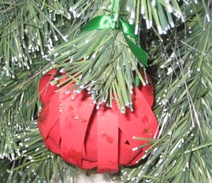Red paper ornament