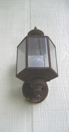 Rusted lamp
