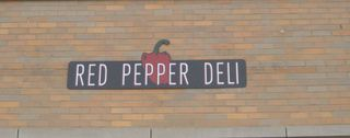 Red pepper deli sign