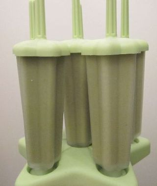 Green popsicles