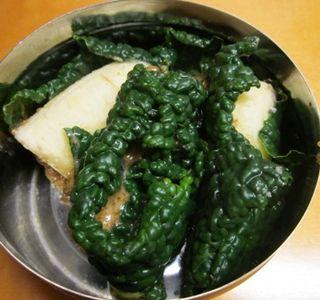 Kale sushi