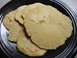 Socca pancakes