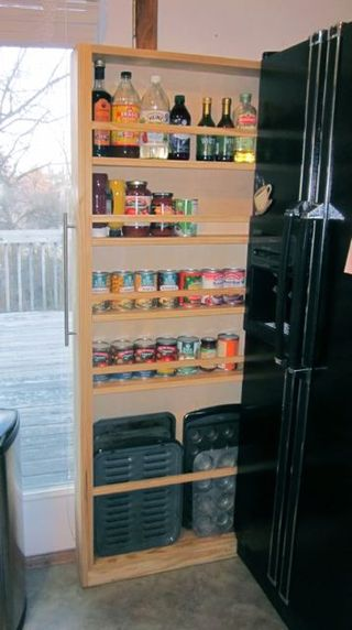 Space saver cabinet filled