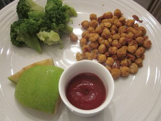 Chickpea chicken dinner